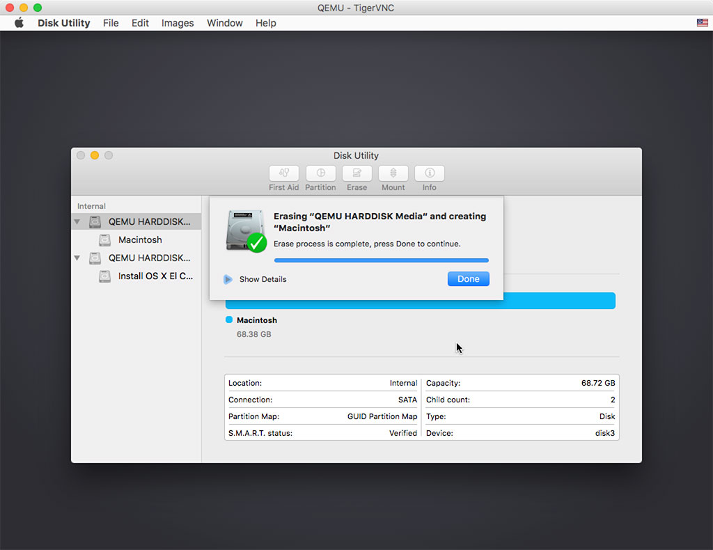 在KVM 虚拟机中运行macOS 系统| Tommy 的自留地